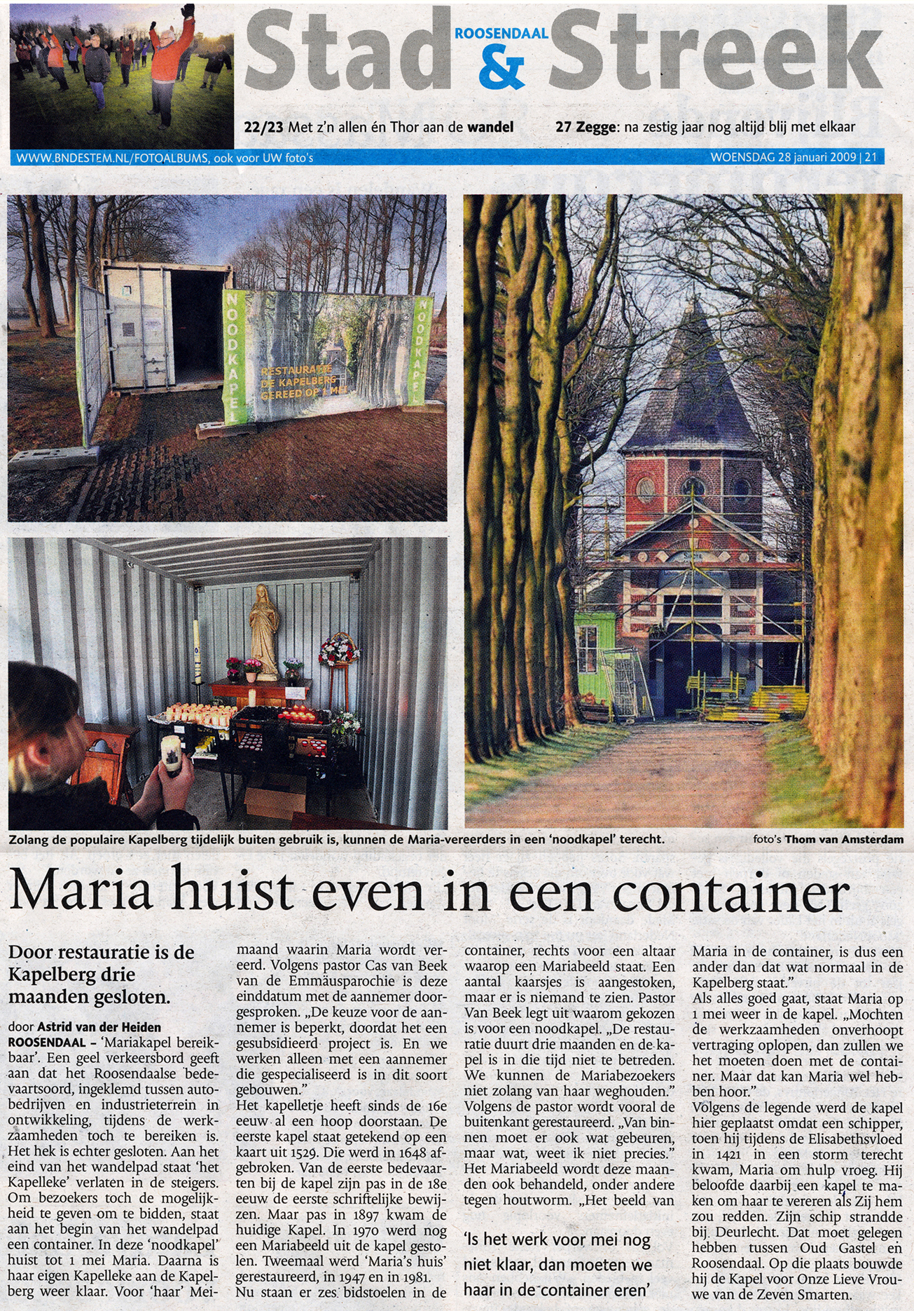 Maria huist in container